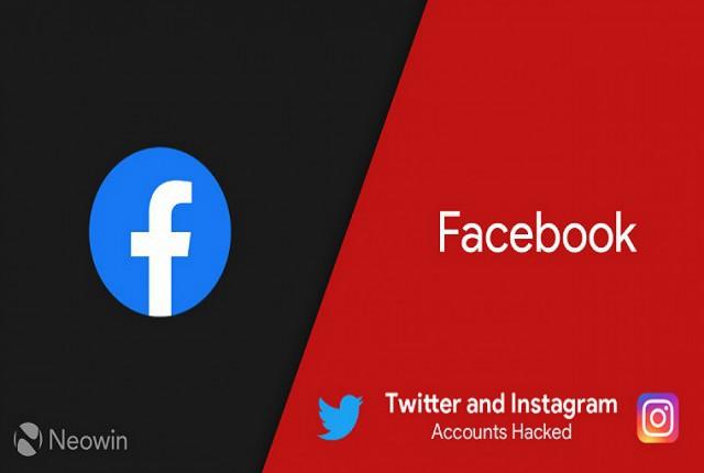 اکانت توییتر فیسبوک هک شد