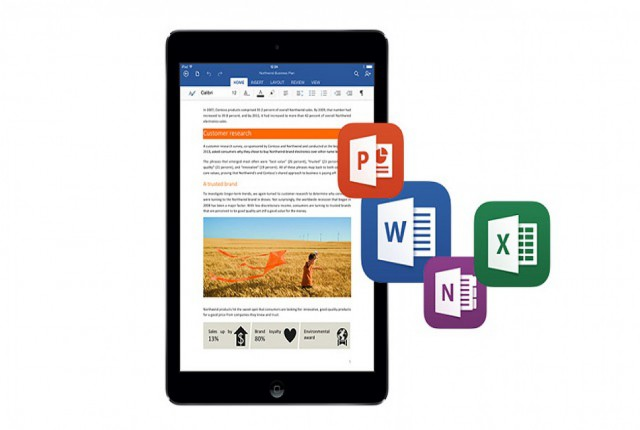 مایکروسافت پشتیبانی از موس و ترک پد را برای برنامه های آفیس و آیپد را اضافه می کند
