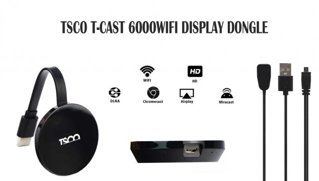 دانگل WIFI DISPLAY تسکو مدل T-Cast 6000